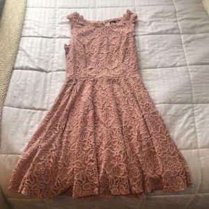 Pink/Blush Skater Dress